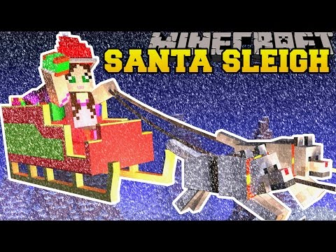 Minecraft: TRAPPED ON SANTA'S SLEIGH! - FIND THE BUTTON CHRISTMAS RAGE - Custom Map (видео)