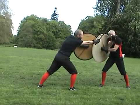 Medieval Swordplay Instructor explains how a Sword and Shield are used in Viking battle [32:54]