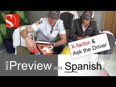sauber - Sauber F1 Team Race Preview for the 2013 Spanish GP. Esteban talks about the difference of GP2 and F1 racing and Nico gives insights into his helmet design. ...