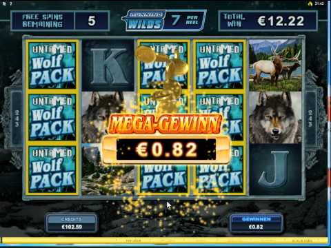Untamed Wolf Pack Slot   Freespin Feature  Big Win over 250x bet