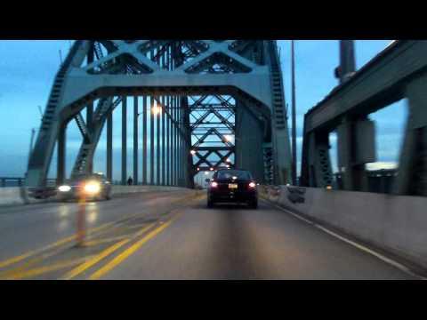 Tacony-Palmyra Bridge eastbound (Night)