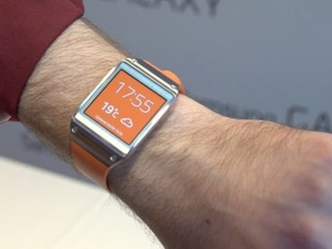 PHONE - http://cnet.co/1ajZy7E The Samsung Galaxy Gear is a high-tech touchscreen timepiece that partners with your phone to see your alerts, track your exercise and...
