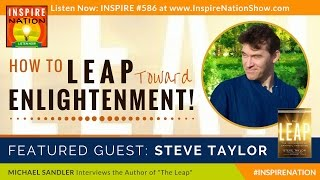 A screenshot of 'How to Leap Toward Enlightenment! The Psychology of Awakening.' video, with Steve Taylor