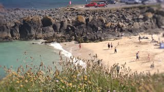 Saint Ives (Cornwall) United Kingdom  city photo : St Ives Bay in West Cornwall, a video guide