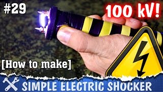 This video is about how to make electric shocker with high-voltage booster. I made it inside PVC tube like classic DIY style. This handmade shocker can't make serious harm, but it hurts =)Easy and cheap to make, this electric shocker can fright off some dogs, and also you can enjoy with teasing yourself, like I do in the video =) Below you can find all components to make electric shocker by yourself. Do it yourself! =)► Components✓ Booster 1000 kV http://ali.pub/hia76✓ Batteries http://alexgyver.ru/18650/✓ Holder http://ali.pub/xejfc✓ Switch http://ali.pub/h5y9e✓ Button http://ali.pub/s2cjd✓ Button http://ali.pub/arxvw► Page on Instructableshttps://www.instructables.com/id/DIY-Electric-Shocker═════════════════════════════★ My websitehttp://alexgyver.ru/★ Me on GutHubhttps://github.com/AlexGyver★ Me on Instructableshttps://www.instructables.com/member/AlexGyver/