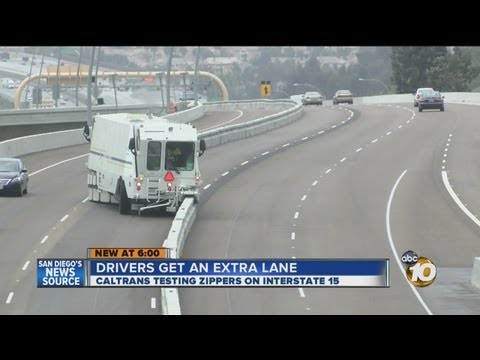 Video TRAFFIC: Drivers Get Extra Lane During Rush Hour with