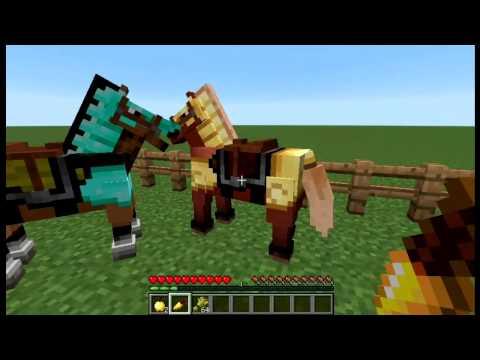 Как оседлать лошадь в майнкрафте - видео