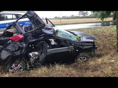 Wideo1: Wypadek w Bielawach Pogorzelskich