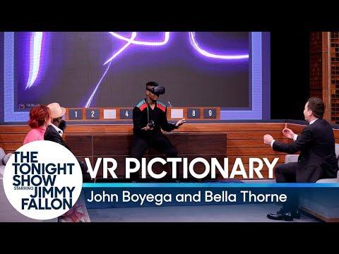 Virtual Reality Pictionary with John Boyega and Bella Thorne (видео)