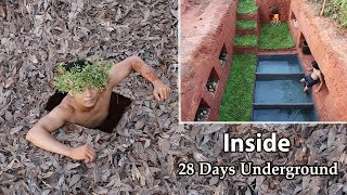 Video 28 Days Build and Living in Secret Underground House MP3, 3GP, MP4, WEBM, AVI, FLV Agustus 2019