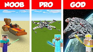 Minecraft NOOB vs PRO vs GOD: LIFE OF A JEDI - STAR WARS  Build Challenge in Minecraft / Animation