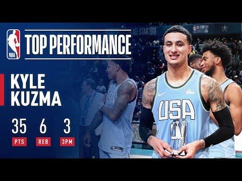 Video: Kyle Kuzma Wins Mountain Dew Ice Rising Stars Game MVP | February 15, 2019
