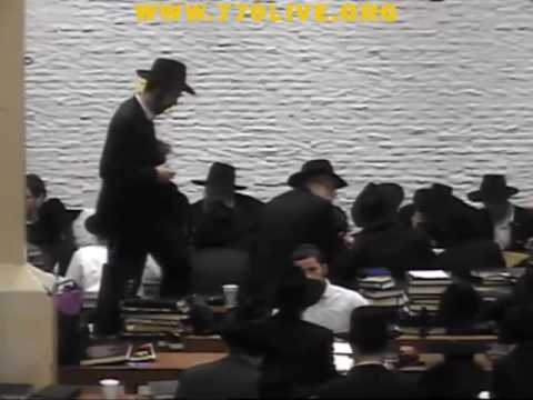הרב זלמן לנדא בשיעור התוועדות ב770