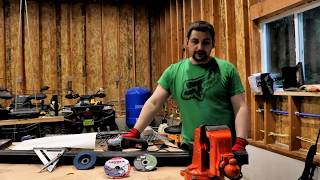 "Catastrophic Harbor Freight Grinder FAIL!!!Doing It Dan's Way In this video I was working on a review for a Lenox Metal MAX 4 1/2"" grinding wheel and also cutting the 2X2 steel for a trailer Modification when my Harbor Freight grinder Catastrophically FAILED!!! Also I get a little Spooked when lighting hits the ground really close to my garage. Min 1:24  Grinder Fail!!Min:  5:15 Lighting Strike"