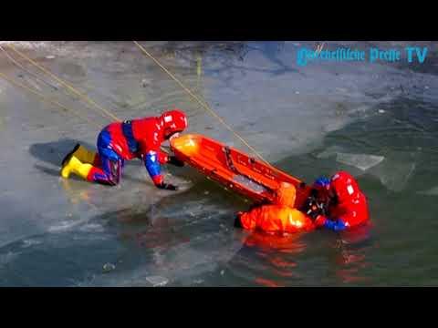Der Tod lauert auf der Lahn - Feuerwehr Marburg übt Eis ...