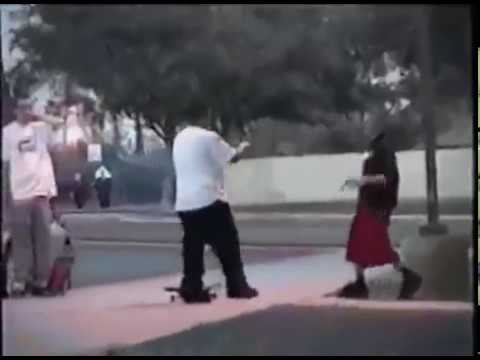 Gang member pulls gun out on skater for wearing red, didn't expect what happened next