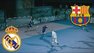 Video Fifa Street Gameplay Xbox 360 - Barcelona vs Real Madrid, Un partido muy rudo, Casi a los Golpes MP3, 3GP, MP4, WEBM, AVI, FLV Desember 2017