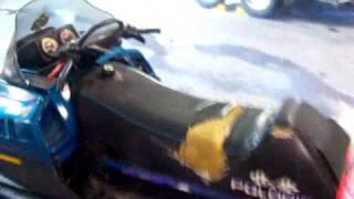 9. 1997 Polaris RMK 700 Twin Snowmobile Video LOT 579A