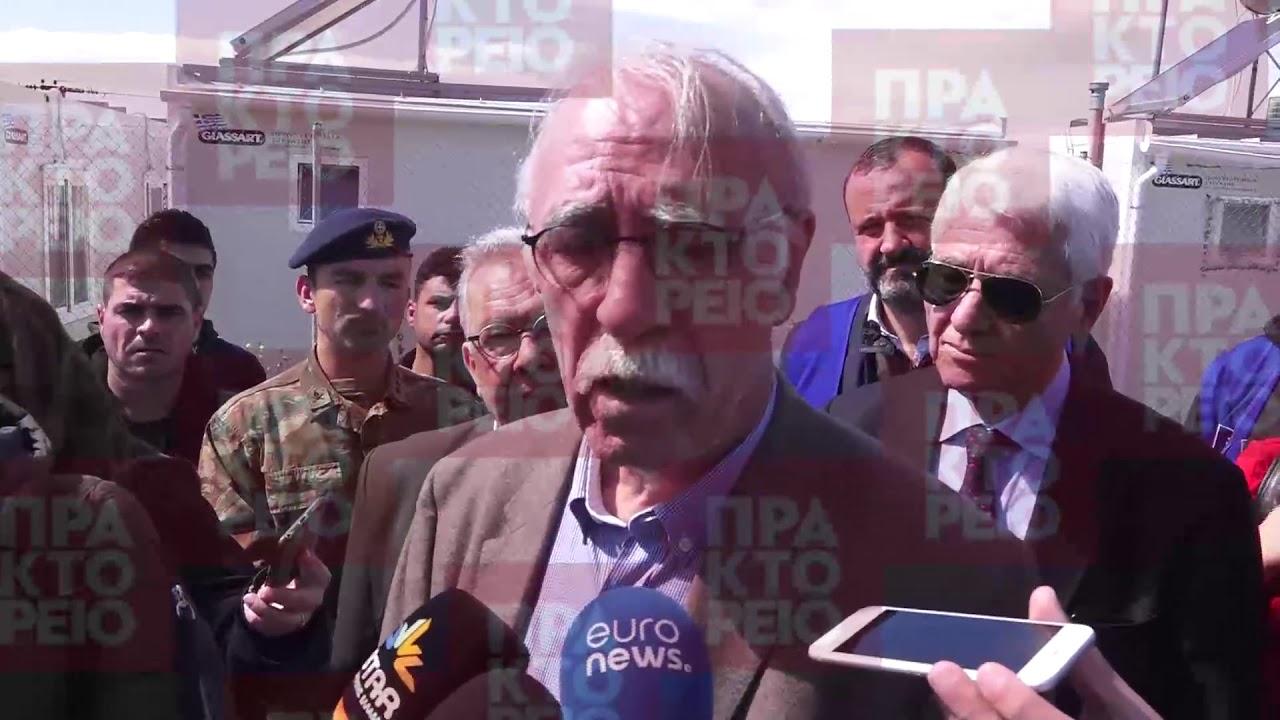 Δηλώσεις του Υπουργού μεταναστευτικής πολιτικής Δ.Βίτσα από το Κέντρο Φιλοξενίας προσφύγων στην Θήβα