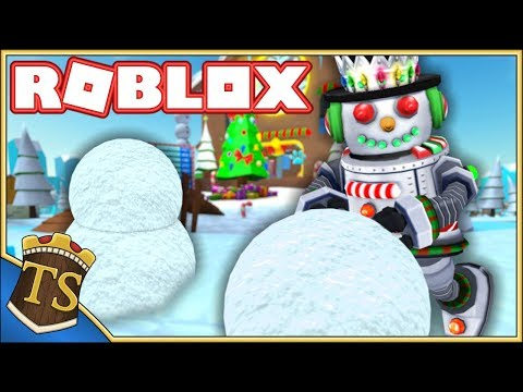 BYGGER VERDENS STØRSTE SNEMAND! - Snowman Simulator - Ep 1  Dansk Roblox