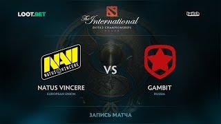 Natus Vincere vs Gambit, The International 2017 CIS Qualifier
