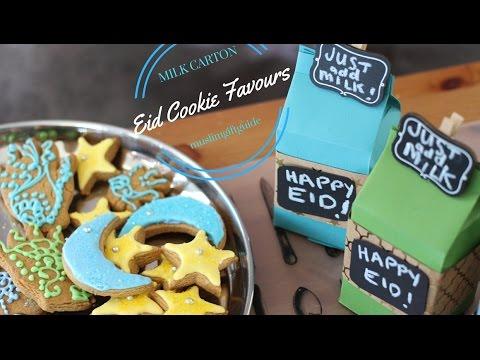 Milk Carton Eid Cookie Favours