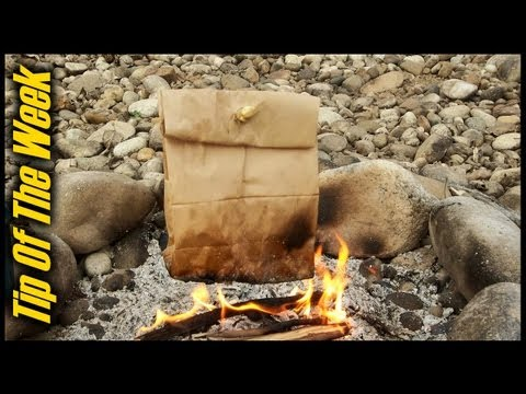 bacon - How to cook bacon and eggs in a paper bag over an open fire. This old campfire cooking trick makes for a simple and delicious camp meal without the hassle of...