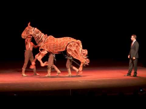 It takes three actors to bring this horse to life. The puppeteering and attention to detail is incredible.