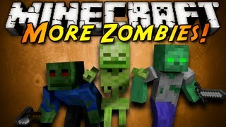 Minecraft Mod Showcase : MORE ZOMBIES!