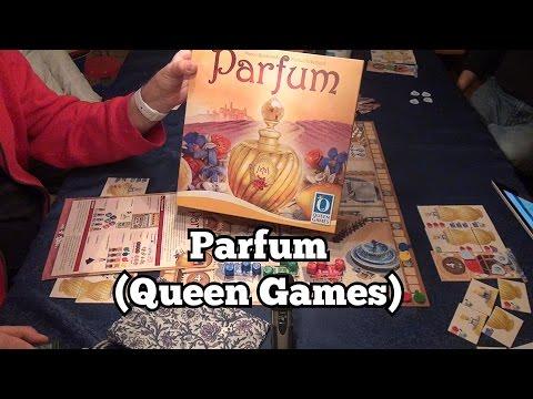 Test Parfum (Queen Games): Rezension und Beispielrunde von Spiele-Podcast.de