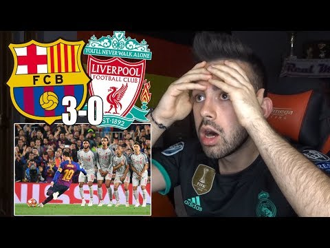 HINCHA del REAL MADRID reacciona al FC BARCELONA 3-0 LIVERPOOL Semifinales Champions League