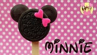 MINNIE MOUSE oreo pops - Cute disney mickey or minnie cookie pops - YouTube