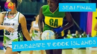 Zimbabwe take on Cook Islands in the Netball World Youth Cup from Botswana.