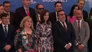 La Reina preside la entrega de los Premios Discapnet de la Fundación