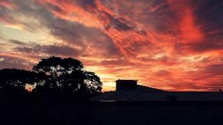 Time-lapse radical do pôr do sol desta quinta-feira 14 de Janeiro em Foz do Iguaçu