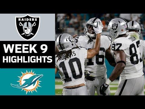Raiders vs. Dolphins | NFL Week 9 Game Highlights - Thời lượng: 8:30.