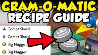 BEST CRAM-O-MATIC RECIPE GUIDE! Rare Items - Kurt Balls - Bottle Caps - Wishing Pieces - Rare Candy by Verlisify