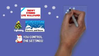 Snowy Evening Live Wallpaper YouTube video