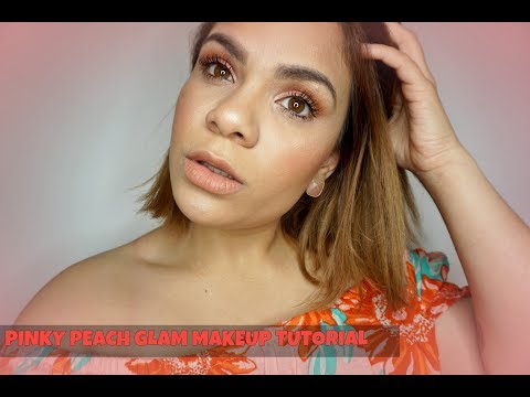 Hair color - PINKY PEACH GLAM MAKE UP TUTORIAL