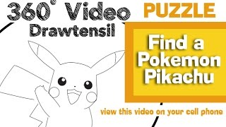 Find a Pokemon , Pikachu Puzzle Game - VR 360 - View this video with  the Youtube App on your cell phone.