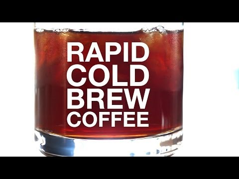 Coffee - How to quickly make cold brewed coffee using a whipping siphon. details at http://chefsteps.com/