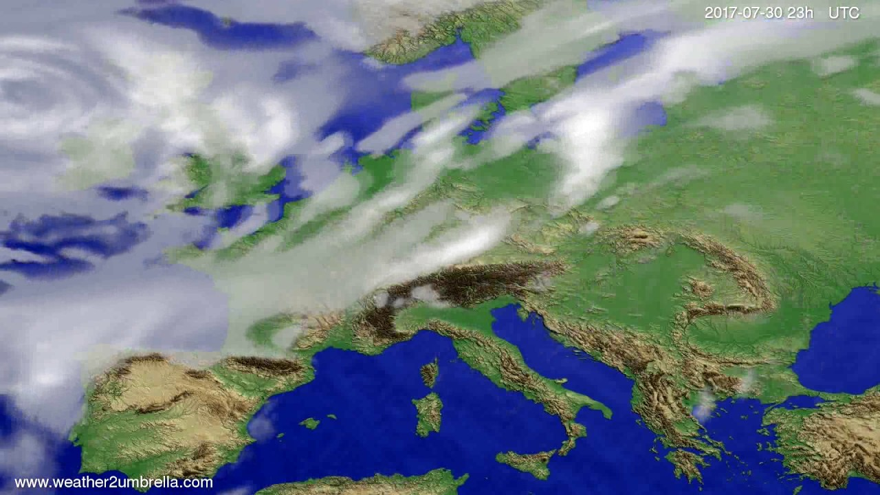 Cloud forecast Europe 2017-07-27