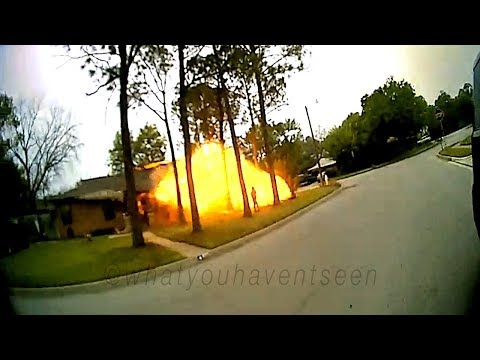 Texas House Explosion Caught On Two Body Cams, One Dash Cam