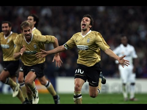 del piero show: 2 goal al real madrid 2008