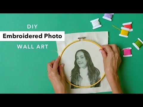 Embroidered Photo Art | Creative Hand Embroidery Ideas