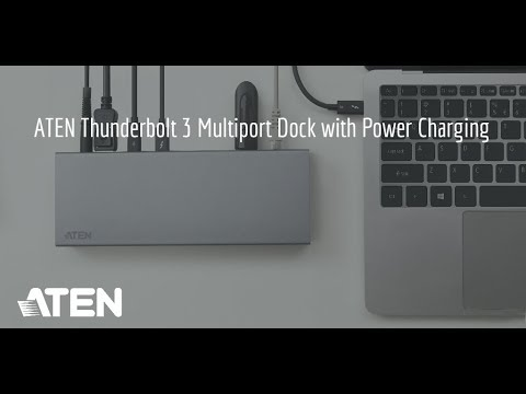 ATEN Thunderbolt™ 3 Multiport Dock with Power Charging