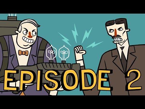 Super Science Friends Episode 2: Electric Boogaloo | Tesla vs. Edison | Animation (видео)