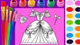 Video Princess Dress Coloring Page for Kids to Learn Colors for Children MP3, 3GP, MP4, WEBM, AVI, FLV Mei 2017