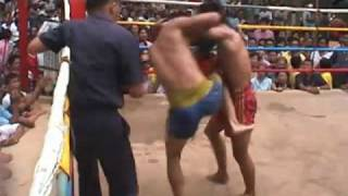 Muay Thai Fight Uttaradit Thailand-1 2003 Rounds 3+4