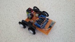 Arduino +Andorid +Bluetooth +İnternet kullanarak gerçekleştireceğimiz Ses ile çalışan  robot projesinde piyasada uygun fiyata rahatlıkla bulabileceğiniz Adafruit motor shield (L293D) ve HC-06 bluetooth modül kullanılmıştır. Google sesli arama özelliğini kullandığımız içinde sınırsız sayıda sesli komut tanımlayabilirsiniz. Daha fazlası için http://www.yapalim.net/2015/06/21/sesle-kontrol-edilen-robot/#cc-m-product-10011757698